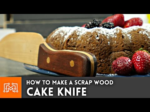 How to make a cake knife from scrap wood // Woodworking