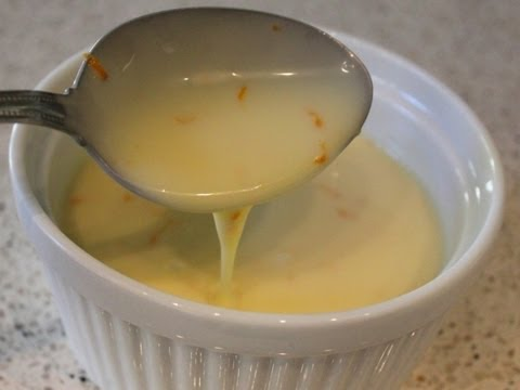Orange Crème Anglaise Recipe - Classic Custard Sauce for Desserts