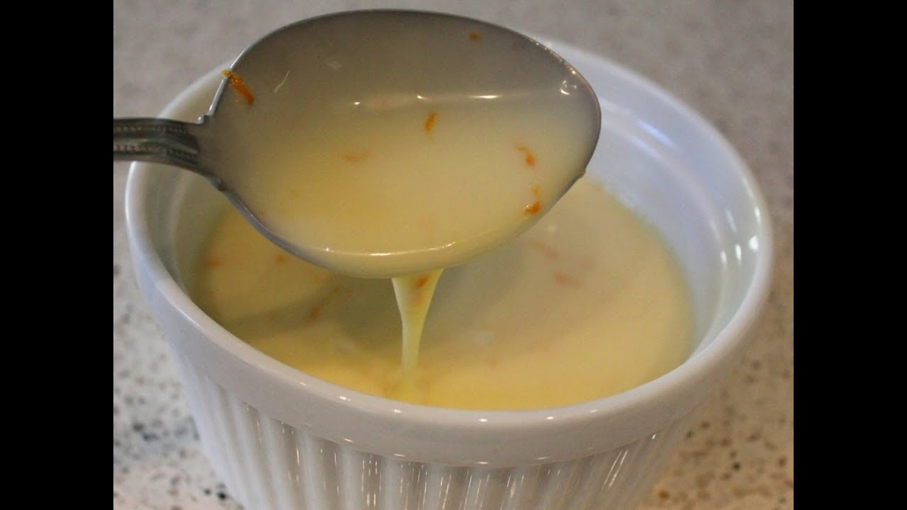Orange cr me anglaise recipe classic custard sauce for - Creme anglaise ...