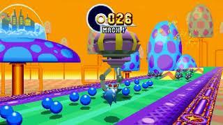 Sonic Mania - All Emeralds Sonic + Tails Speedrun in 57:42