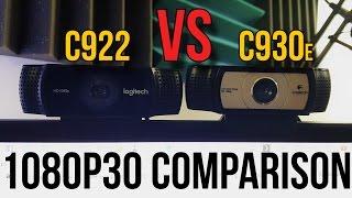Logitech C922 Vs. C930e Webcam Comparison 1080p 30FPS Pro Stream Webcam