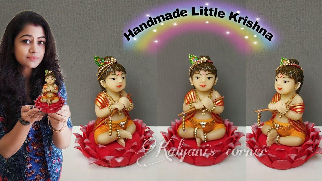DIY Krishna idol/Best out of waste/Recycle craft ideas/Plastic bottle craft ideas/diy Little krishna