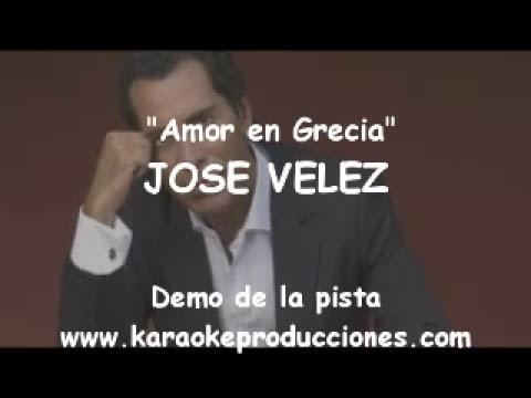 Jose Velez - Amor en Grecia  DEMO DE LA PISTA  INSTRUMENTAL