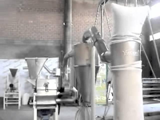 Molino de martillos - Prueba: azúcar impalpable - Vulcano Tecnología Aplicada EIRL.