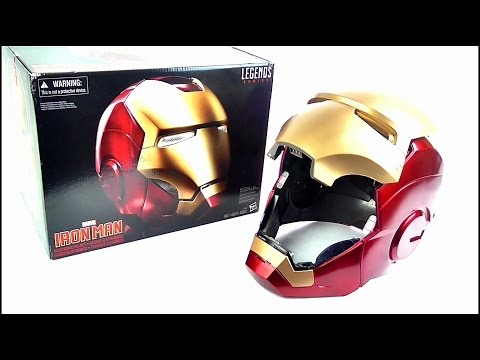 IRON MAN Marvel Legends Electronic Helmet Replica Review | StephenMcCulla
