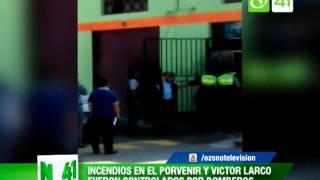 Incendios en El Porvenir y Victor Larco fueron controlados por bomberos - Trujillo