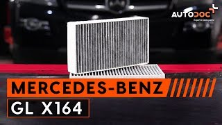 Cambio filtro antipolline MERCEDES-BENZ GL X164 TUTORIAL | AUTODOC
