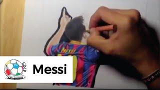 Aprende a dibujar a Lionel Messi paso a paso Fcil y Sencillo