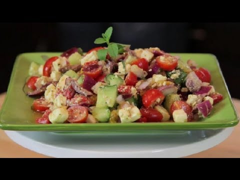 Authentic Greek Salad Recipe : Modern Mediterranean Recipes