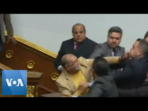 Chaos Erupts in Venezuela National Assembly, Juan Guaido Was Blocked From Entering