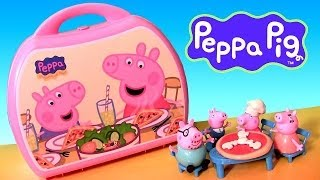 Peppa Pig Pizzeria Playset Pizza Shop Carry Case Playdoh Maletín Pizzería De La Cerdita
