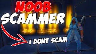 Nooby Scammer Scammed Himself HUGE FAIL (Scammer Gets Scammed) Fortnite Save The World