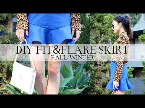 DIY Fit-and-Flare Skirt - YouTube