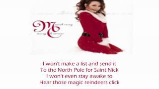 Mariah Carey - All I Want For Christmas Is You - Lyrics (HQ)