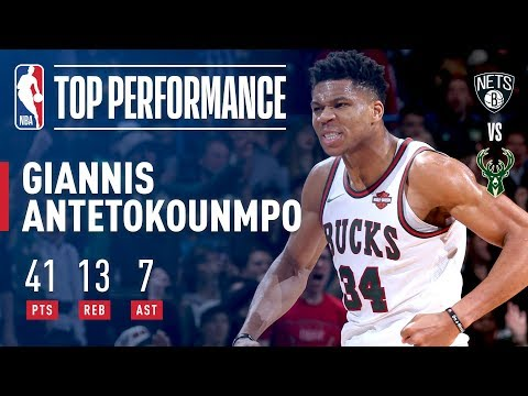 Giannis Antetokounmpo Puts Up 41 Pts In Win vs. Nets | January 26, 2018