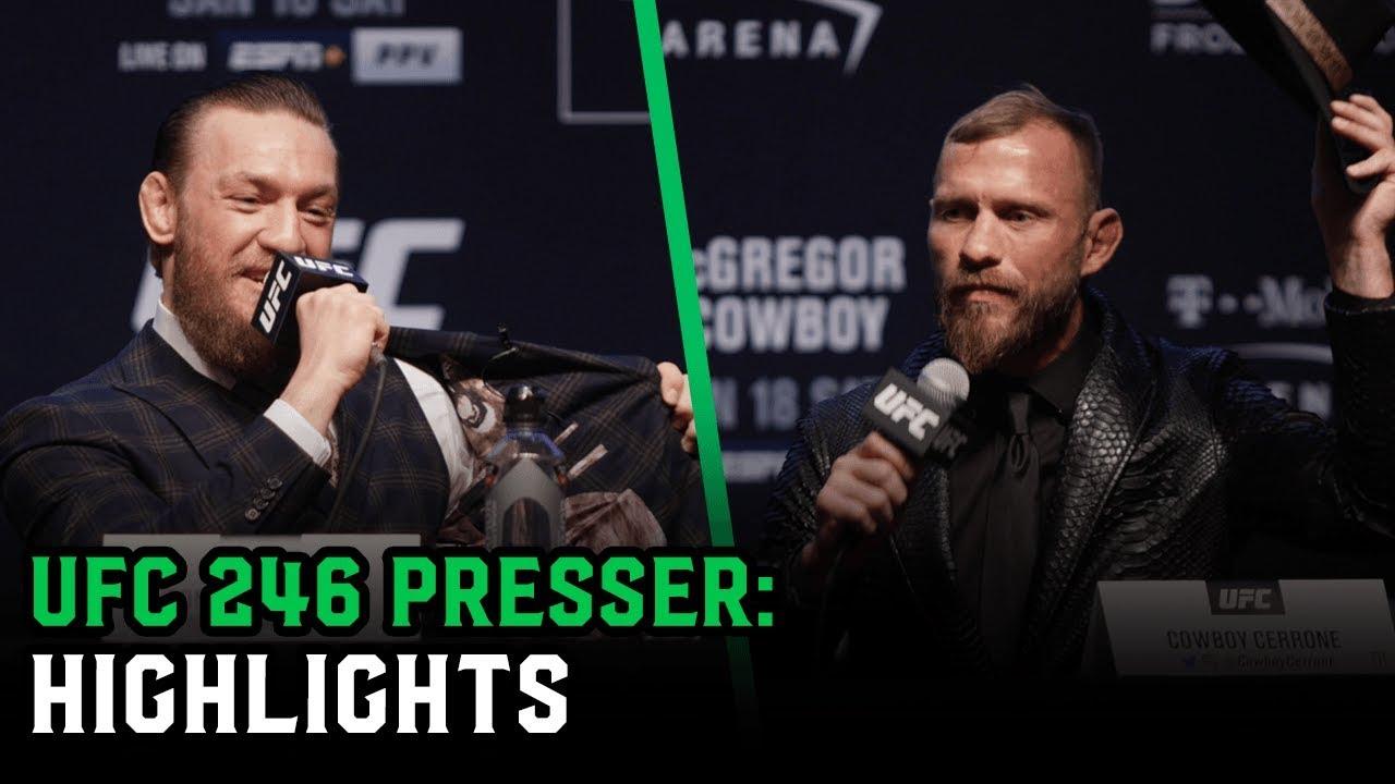 Conor McGregor vs. Donald Cerrone Press Conference best bits UFC 246