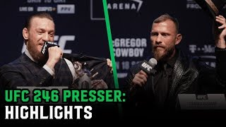 Conor McGregor vs. Donald Cerrone Press Conference best bits UFC 246