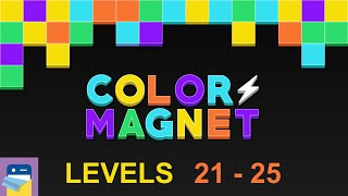 Color Magnet: Puzzle Levels 21 22 23 24 25 Walkthrough & Solutions & Gameplay  (by The One Pixel)