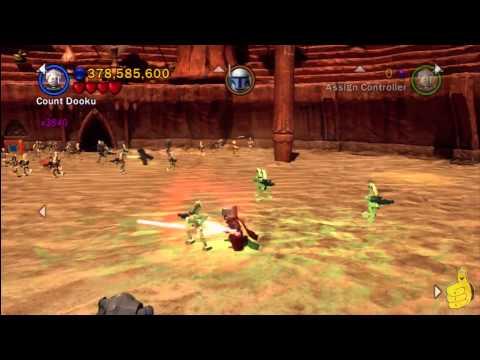 LEGO Star Wars 3: Prologue Geonosian Arena Free Play (All Minikits) - HTG