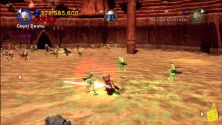 LEGO Star Wars 3: Prologue Geonosian Arena Free Play (All Minikits) - HTG