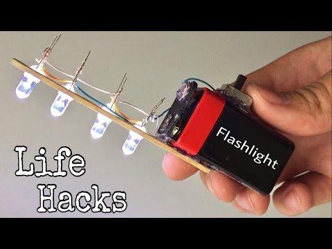 3 Awesome ideas - How to Make a Flashlights - LED Life Hacks