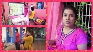 Bengali Vlog # 2020 এর ষষ্ঠীতে করলাম Living room সাজিয়ে ফেললাম