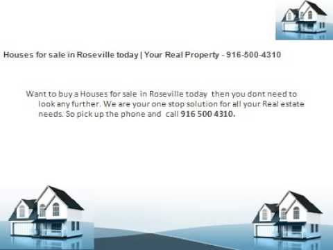 Houses for sale in Roseville today   Your Real Property - 916-500-4310