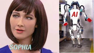 Cute Sophia smile || Boston dynamics AI robots 2018 || Future of Humanity