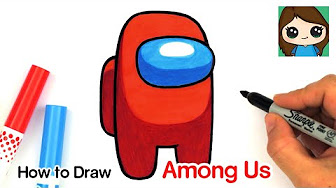 How To Draw Among Us Character Among Us Character Drawing For Among Us Fans Youtube