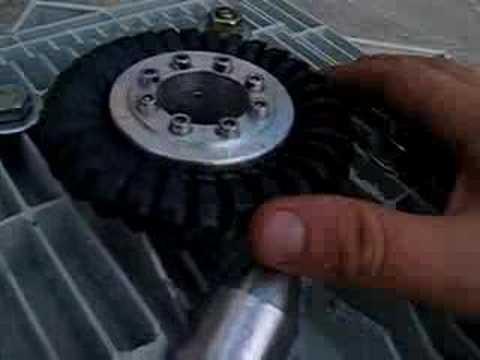 My micro turgo turbine and car alternator