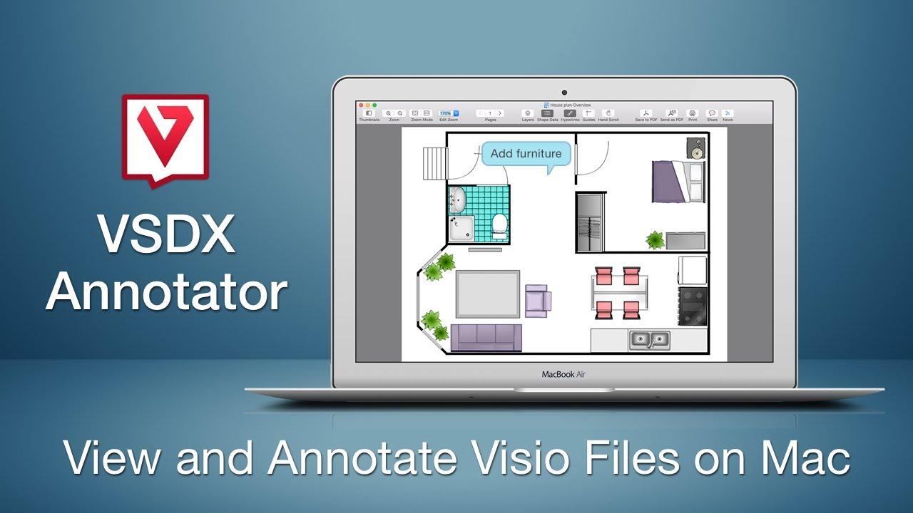 VSDX Annotator - Open, Edit and Convert Visio files on Mac