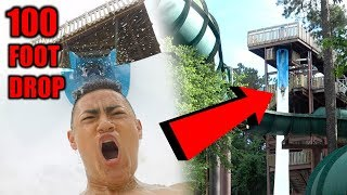 RIDING INSANE WATERSLIDES **100 FOOT DROP**