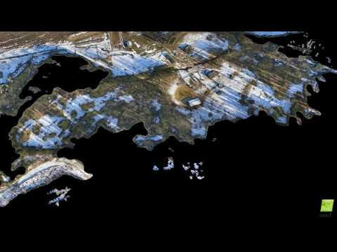 Drone Land Survey 3D model fly through