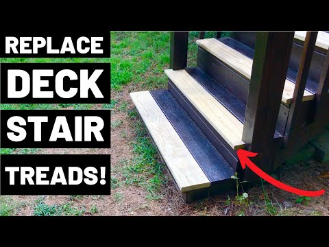 Deck Stair Tread Installation How To Replace Deck Stair Treads   Best Outdoor Stair Treads   Stair Stringers   Wood   Carpet   Spiral Staircase   Carpet Stair