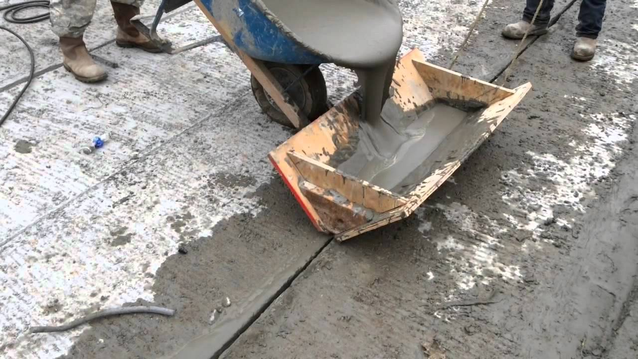 Grouting Cored Slabs And Box Beams Youtube