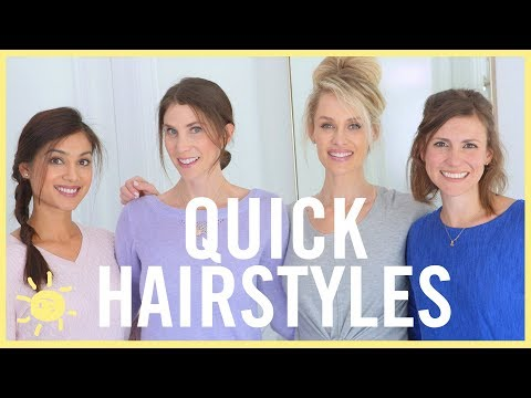 STYLE & BEAUTY | 4 Quick Hairstyles for Mom!