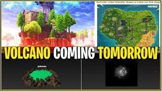 *NEW* Fortnite: TOMORROWS VOLCANO UPDATE! | (Loot Lake Volcano)