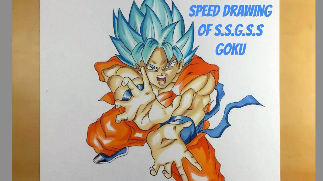 Drawing of Super Saiyan God Super Saiyan Goku Kamehameha ...