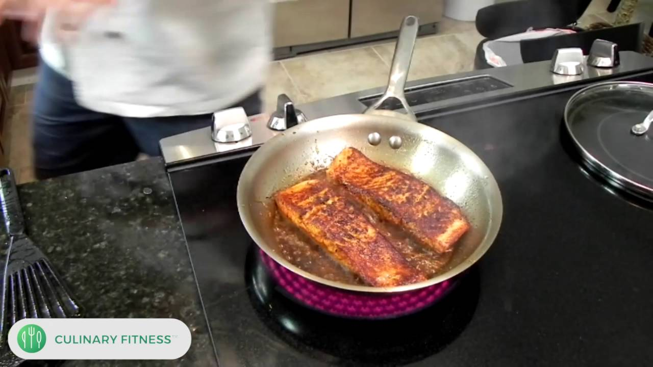 Caribbean Jerk Salmon: Chef Dennis Berry  Culinary Fitness  Healthy  Cooking Videos