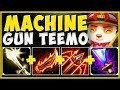 MACHINE GUN TEEMO! OVERLOADED ATK SPEED TEEMO IS 100% OP! TEEMO S9 TOP GAMEPLAY! - League of Legends