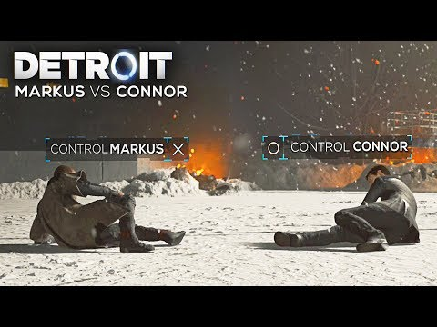 Control Markus vs Control Connor (Boss Battle - All Outcomes) - DETROIT BECOME HUMAN