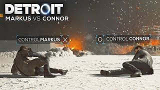 Control Markus vs Control Connor (Boss Battle - All Outcomes) - DETROIT BECOME HUMAN thumbnail