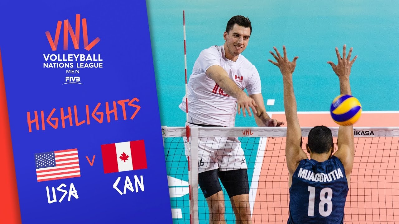 USA vs. CANADA - Highlights Men | Week 4 | Volleyball Nations League 2019