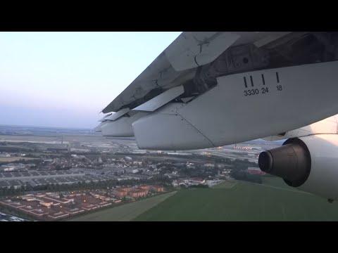 Cityjet RJ-85 smooth landing, taxi and shutdown in Paris Charles de Gaulle!
