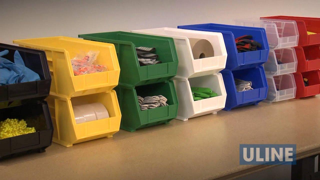 uline plastic stackable bins - Plastic Stackable Bins
