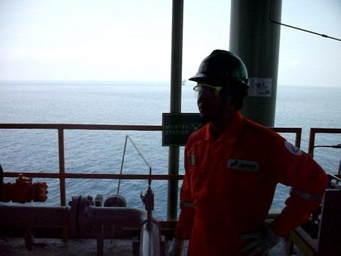Me in an Offshore Flow Station in Indonesia