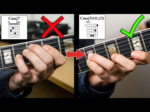 5 Levels Of Maj7 Chords & How To Make Your Own Voicings