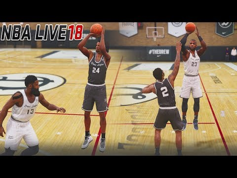 NBA LIVE 18 The One Career Mode - KAWHI LEONARD GETTING EXPOSE IN THE DREW LEAGUE GAME!