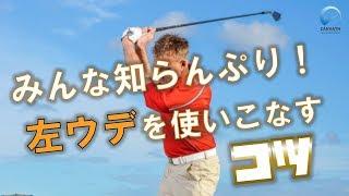正しいゴルフスイングは体の両側を使います