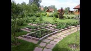 Дизайнерские красивые грядки в саду